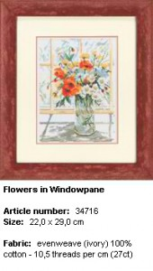 Flowers in windowpane 34.716 Lanarte