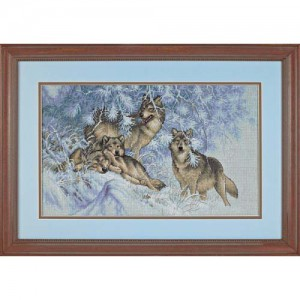 Wintertime Wolves 35227 Dimensions