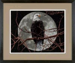 Eagle in Moonlight 13688 Dimensions