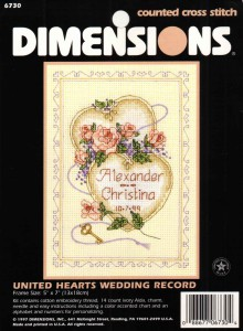 United Hearts Wedding record 6730 Dimensions