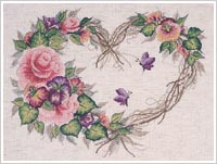 Grapevine Wreath with Floral 43092 Bucilla