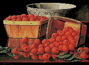 Artecy Basket of Raspberries