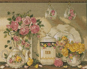Bucilla 43501 Tea and Roses