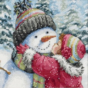 Dimensions 08833 A kiss for snowman