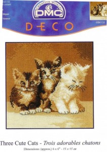 DMC BK132-Three cute cats