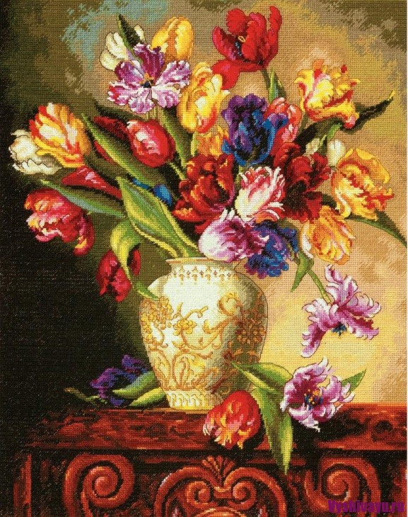 Dimensions 70-35305 Parrot Tulips