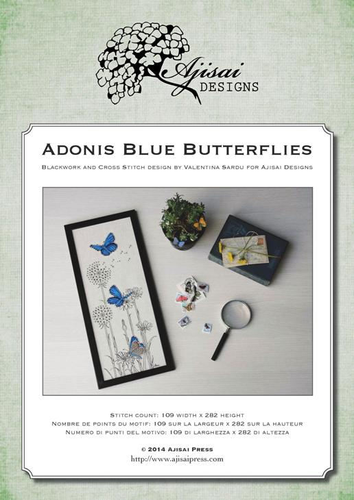 Ajisai Designs Adonis Blue Butterflies