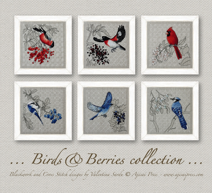 Ajisai Designs Bird &Berries collection