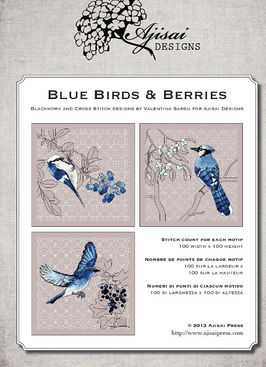 Ajisai Designs Blue Birds & Berries