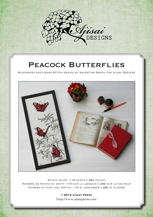 Ajisai Designs Peacock Butterflies
