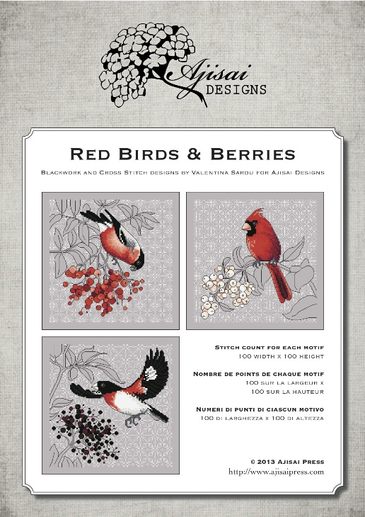 Ajisai Designs Red Birds & Berries
