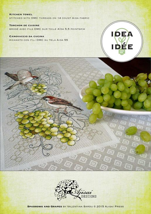 Ajisai Designs Sparrows and Grapes idea