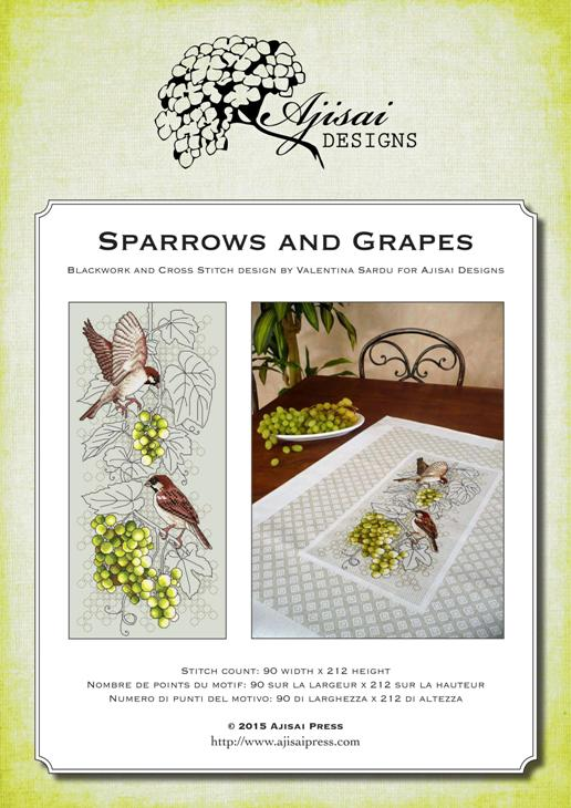 Ajisai Designs Sparrows and Grapes